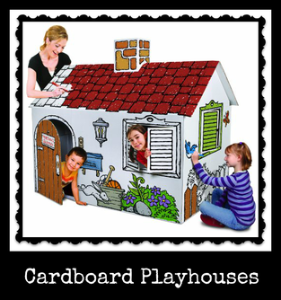 Cardboard Playhouse Kids